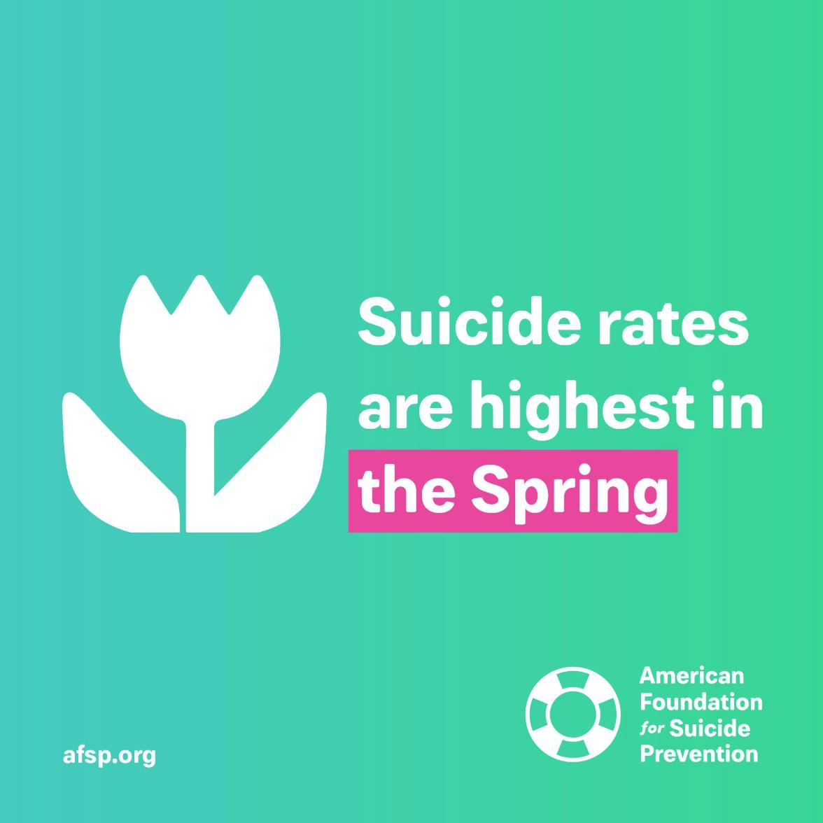Spring can be a tough time for many of us. Don't be afraid to reach out for help.  Call: @800273TALK Text: TWT to 741741(@CrisisTextLine)  #mentalhealth #TuesdayThoughts