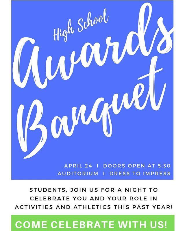 High School Awards Banquet! #aisq8 #aisq8hs http://bit.ly/2GBOA1X