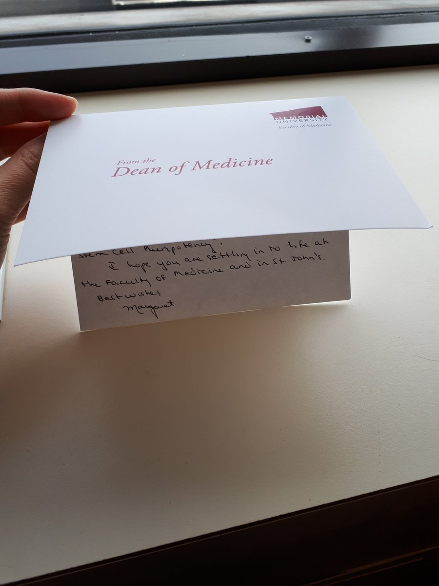 How many Deans of Medicine would take the time for a hand-written note to junior faculty? Thank you so much Dean Steele @MUNMed!