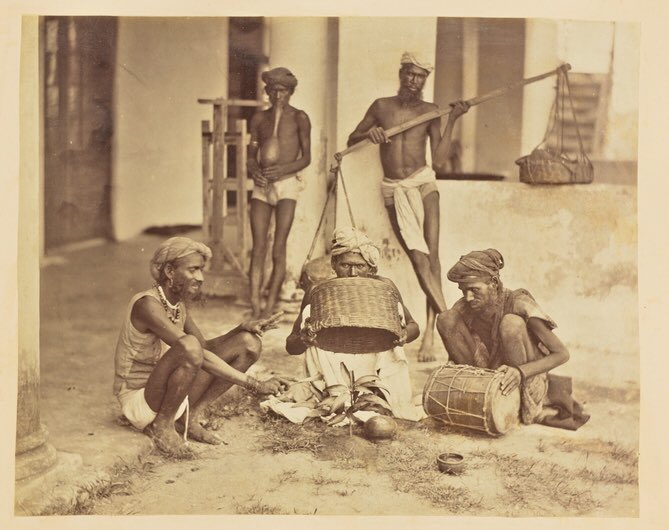 The Indian Mango Trick, 1873. I didn't know about this. A mango seed is placed in the soil under a basket which is then covered with cloth. It is watered &amp; again covered. After a while the performer removes the bask&amp; takes out a mango plant ! #History #Entertainment #Tricks 1/3<br>http://pic.twitter.com/yqwAfp9QbI