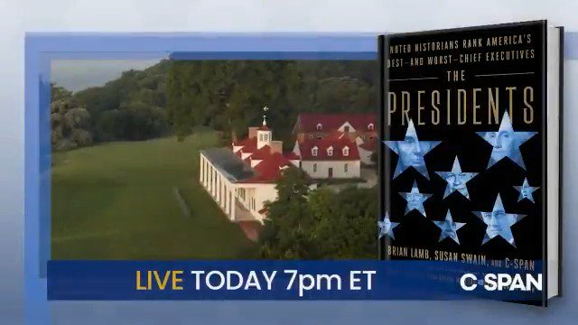 """It's finally here! Grab your copy today!  @CSPAN is LIVE tonight with a discussion on """"The Presidents"""" from George Washington's Mount Vernon and then on Saturday at 2:30pm ET, @BookTV will be LIVE with a discussion on """"The Presidents"""" from the @Newseum in DC."""