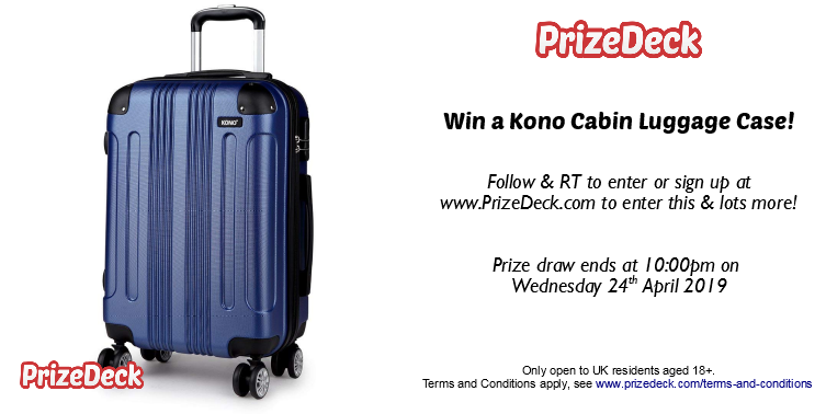 Hope you had a lovely Easter weekend. Booked your summer hols yet?  Follow &amp; RT for your chance to WIN a Kono Luggage Case!   Terms Apply: UK &amp; 18+ Only Ends 10PM Wednesday 24.05.2019  #luggage #holiday #travel #giveaway<br>http://pic.twitter.com/wyGV8Dudho