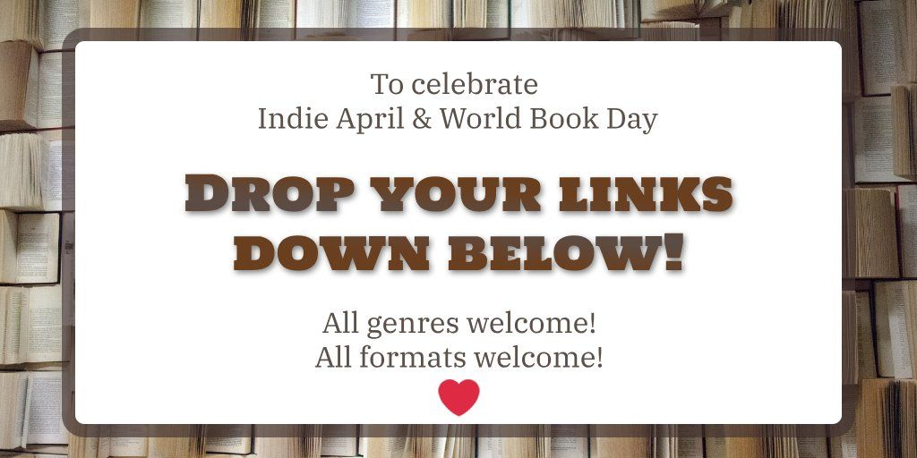 #IndieApril has been such a wonderful event and I want to join in!  Drop your links (w/optional pitch) and I pick a few up to read and review. I also have #KindleUnlimited, so I can add even more to my ever-growing TBR list.  Favorites: fantasy, sci-fi, historical fiction.<br>http://pic.twitter.com/cd7D4Epqqy