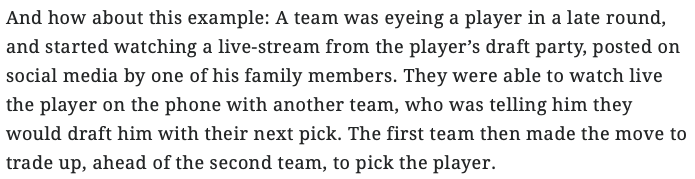 This nugget from @JennyVrentas must-read piece on the information war leading up to and during the draft is absolutely incredible. Read the entire piece here: si.com/nfl/2019/04/23…