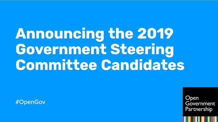 The voting period to fill the three seats on the OGP Government Steering Committee opening in October closes May 3. The five candidates are #Armenia, #Georgia, #Germany, #Indonesia and #Kenya. Learn more about the election process: https://bit.ly/2tpe0ss
