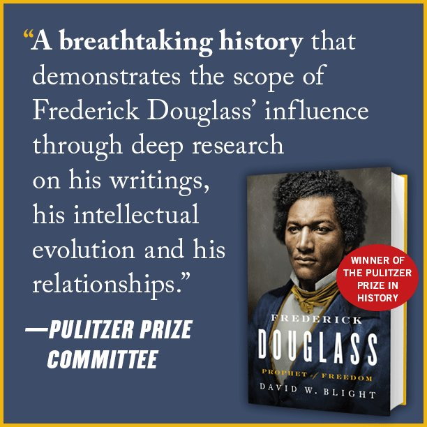 Frederick Douglass: Prophet of Freedom by David Blight is the winner of the #PulitzerPrize in History. The @PulitzerPrizes citation is here: pulitzer.org/winners/david-…. We are very proud to publish this definitive, important work of history about a vital figure in U.S. history.