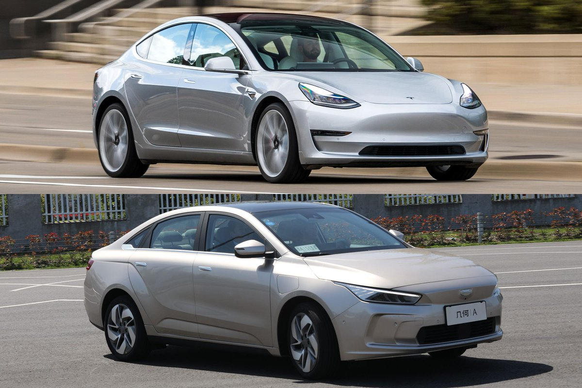 How does the Geely Geometry A measure up to the @Tesla Model 3? http://crdrv.co/xI7BjXK