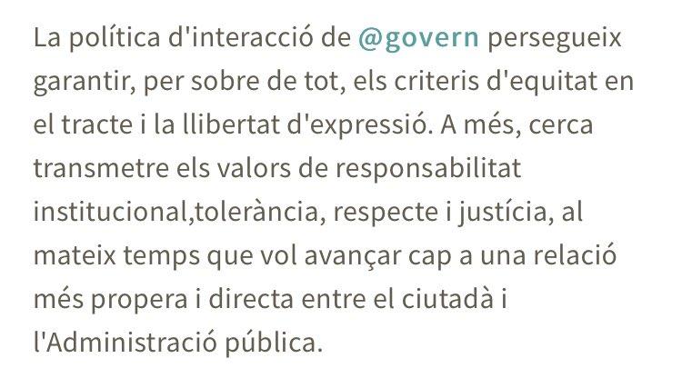 @govern Aquí un fragment de les vostres normes, en les quals, a més, no es contempla el bloqueig d'usuaris.