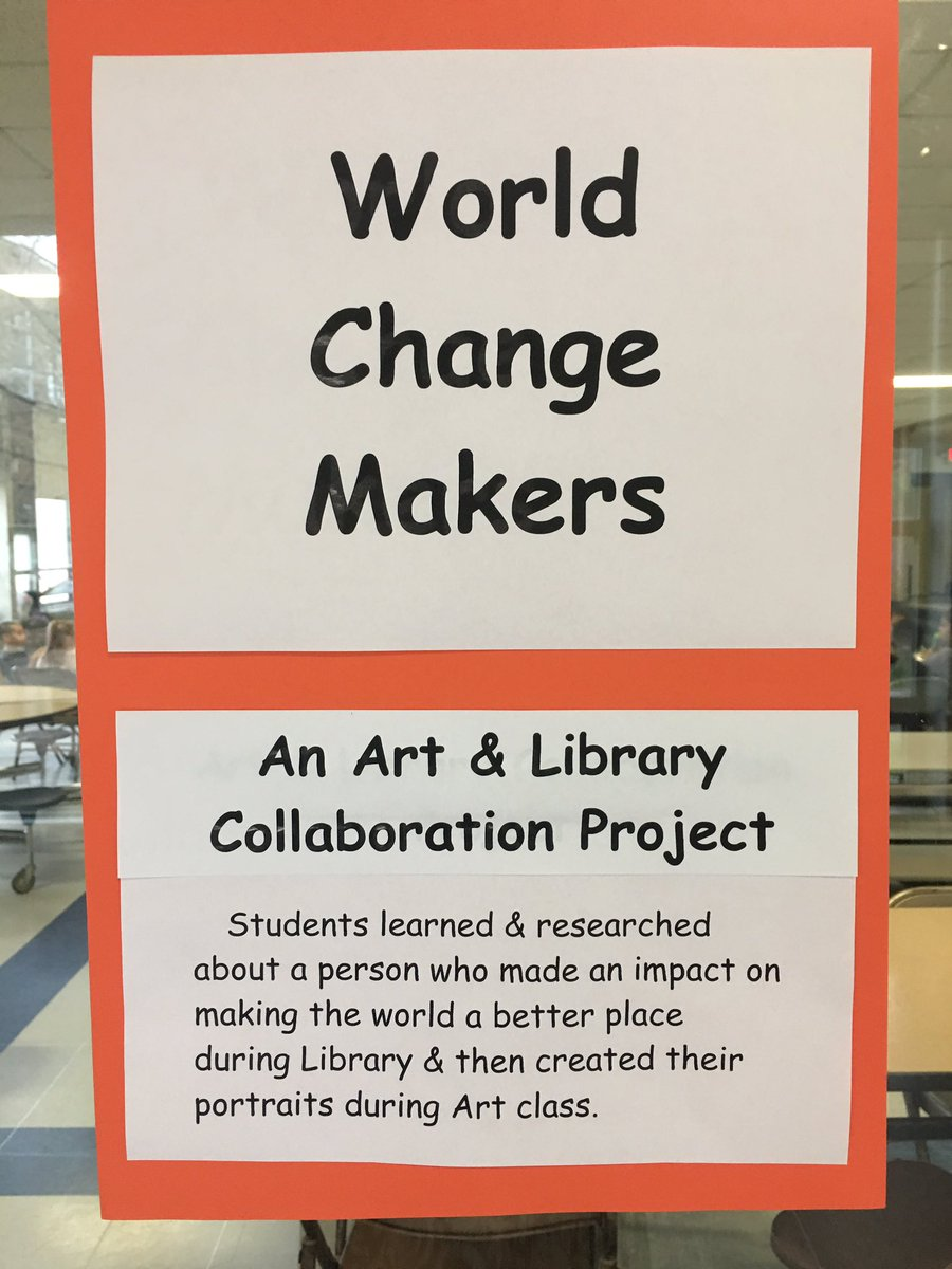 When #art &amp; #library #collaborate! #changemakers #BlackHistoryMonth  #hispanic #heritage #WomensHistoryMonth #biography @pvdschools @ElementaryZone<br>http://pic.twitter.com/6pQqpvoJxX