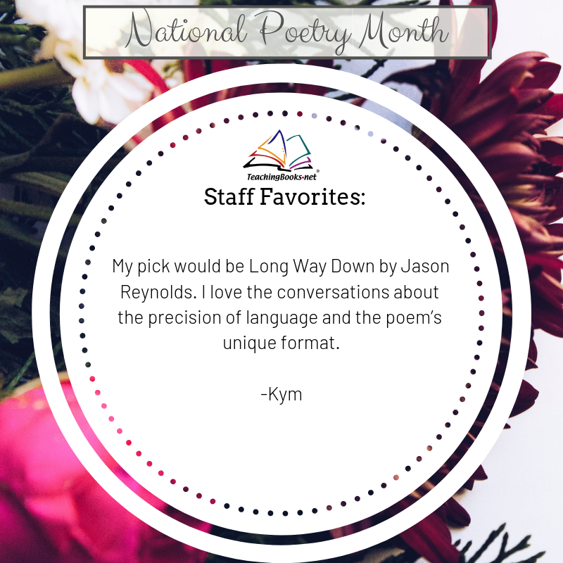 test Twitter Media - April is #NationalPoetryMonth. Here's today's TB Staff Favorite Pick!  Explore more about language and verse format in 'Long Way Down' with this exciting resource: https://t.co/dRT2KzSYbu  @JasonReynolds83 @SimonKIDS #poems #poetry https://t.co/KW5IhXBoej