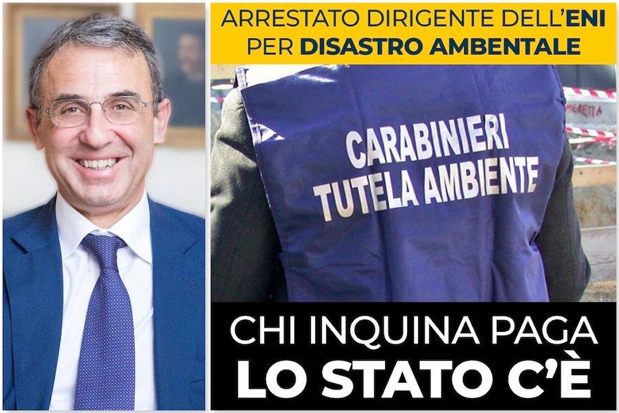 """@SergioCosta_min su arresti #Eni: """"Chi inquina p..."""