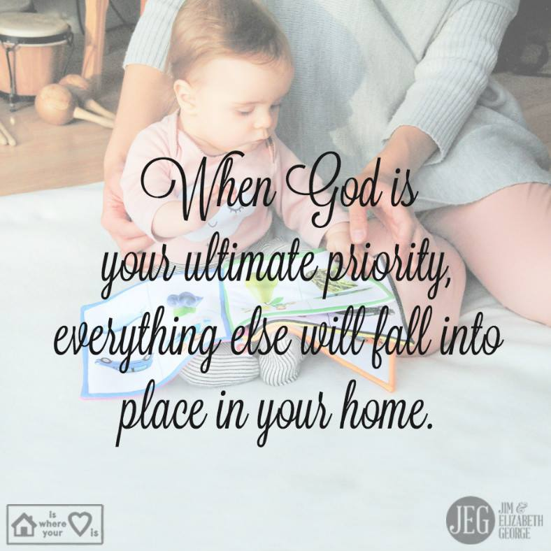 Today, stop and remind yourself—it's all about priorities. When God is your ultimate priority, the rest will fall into place in your home.  #HomeIsWhereYourHeartIs