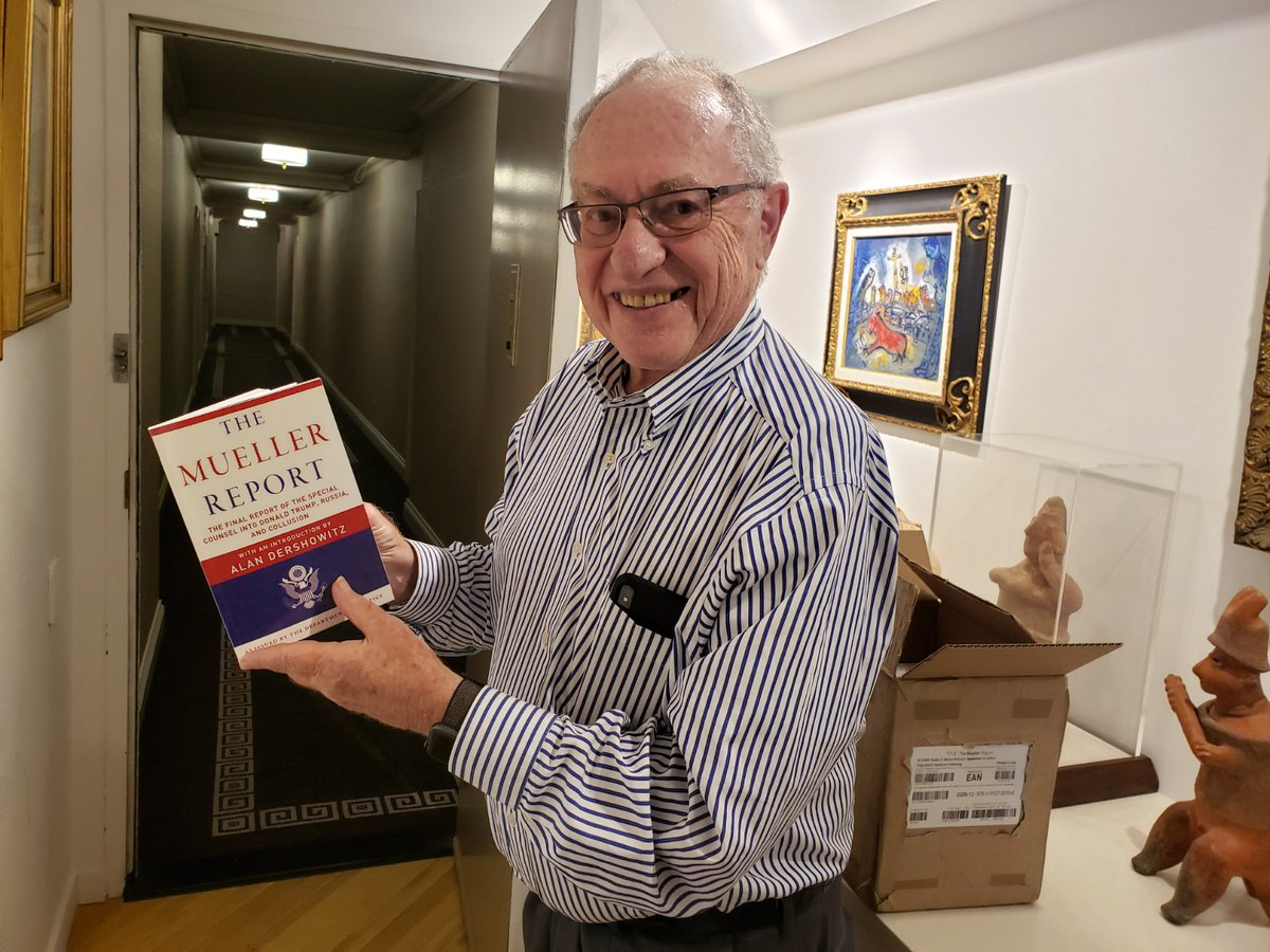 Me with the first copy of Mueller Report with my intro. I finished the intro Friday AM and the book was printed Sunday and in my hands Monday. Soon available for all to read. Amazing what modern technology does. <br>http://pic.twitter.com/BpnkFUMTfM