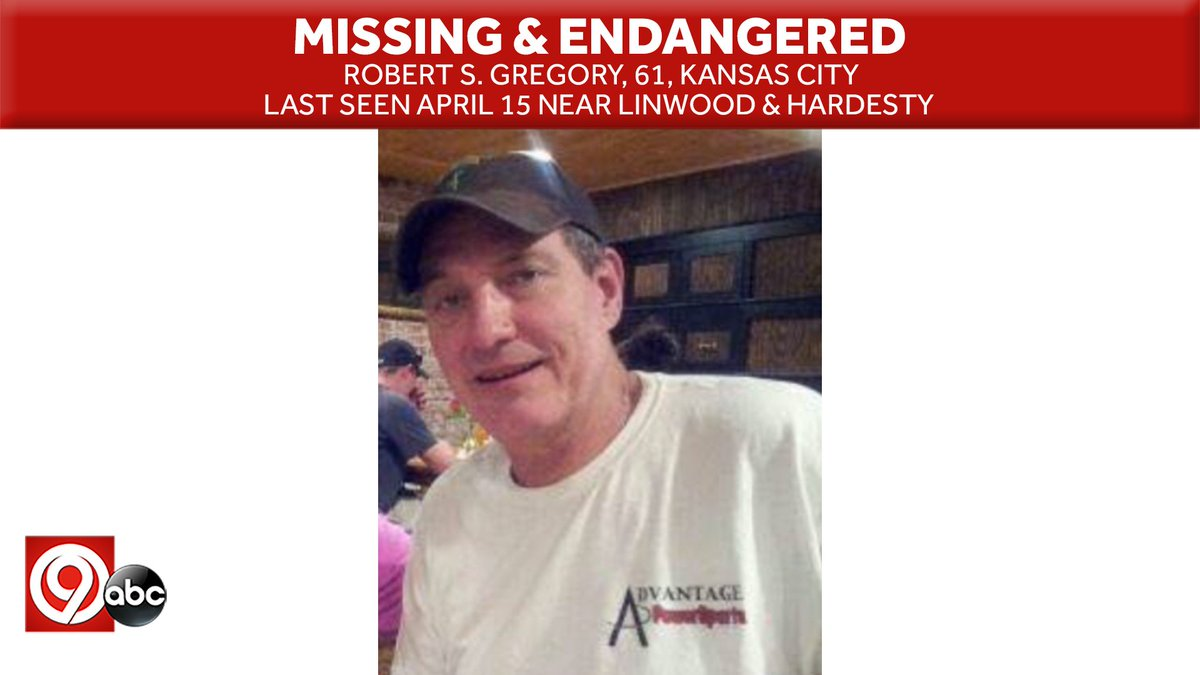 ⚠️IT TAKES 2 SECONDS TO RT⚠️ @kcpolice is asking for help to find a #missing and endangered man who hasn't been seen since April 15. Police are searching for 61-year-old Robert S. Gregory. Gregory was last seen April 15 near Linwood Boulevard and Hardesty. https://bit.ly/2KYqVNy