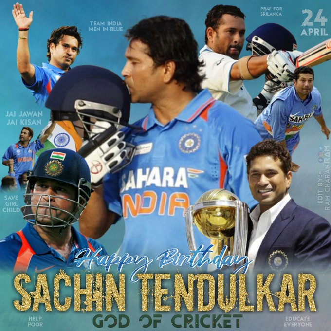 Happy Birthday To Sachin Tendulkar