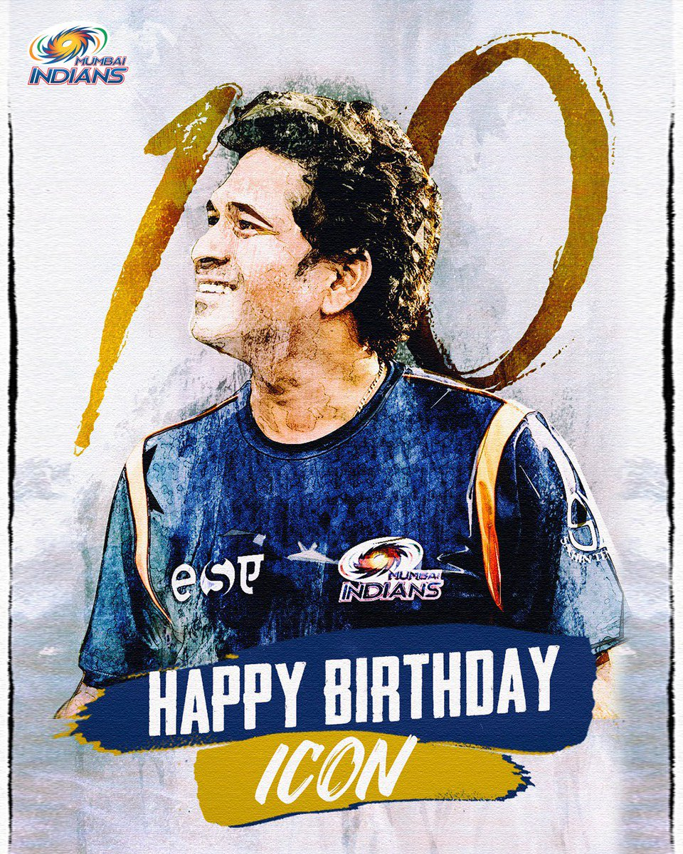 On @sachin_rt's birthday, tell us what he means to you in one word!  We'll start: G.O.A.T. 💙  #HappyBirthdaySachin #OneFamily #CricketMeriJaan #MumbaiIndians
