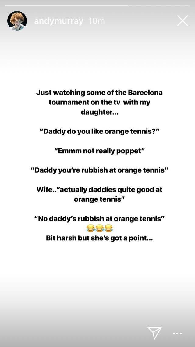 Andy Murray, continues to be very good at Instagram Stories. <br>http://pic.twitter.com/T5F4l2zae5