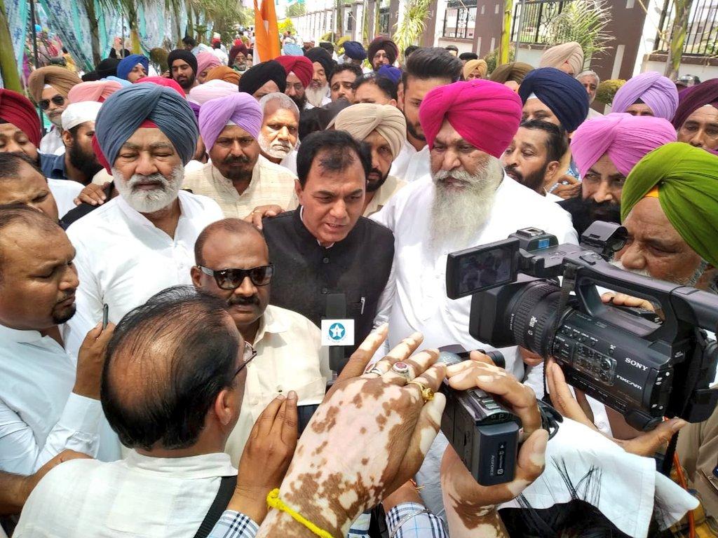 ਅੱਜ ਹੁਸ਼ਿਆਰਪੁਰ ਪਿੰਡ ਚੱਬੇਵਾਲ ਵਿਖੇ ਡਾ. ਰਾਜ ਕੁਮਾਰ ਚੱਬੇਵਾਲ ਦੇ ਨਾਮਜ਼ਦ ਕਾਗਜ ਦਾਖਲ ਕੀਤੇ  Today at Hoshiarpur village Chabbewala @DrRajKumarINC Nomination papers  @AshaKumariINC
