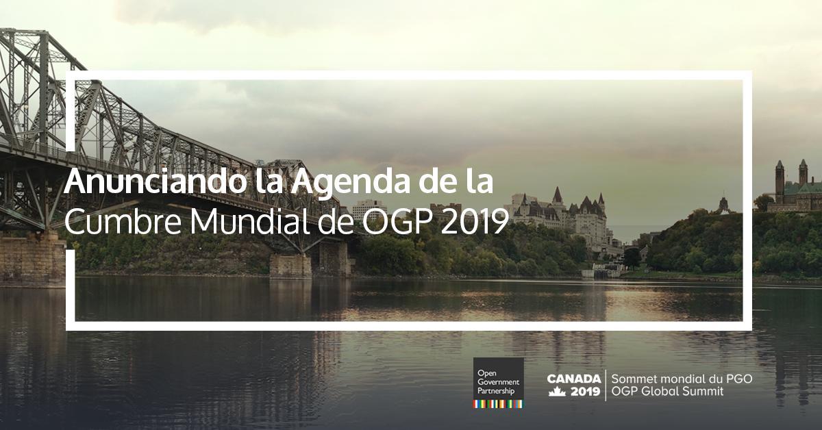 ¿Sabías que este año la Cumbre Mundial de OGP se celebrará del 29 al 31 de mayo en Ottawa, Canadá? Nos complace anunciar la agenda para #OGPCanada, la cual fue cocreada con la comunidad de #GobiernoAbierto a través de un convocatoria abierta de propuestas: https://bit.ly/2IESEQB