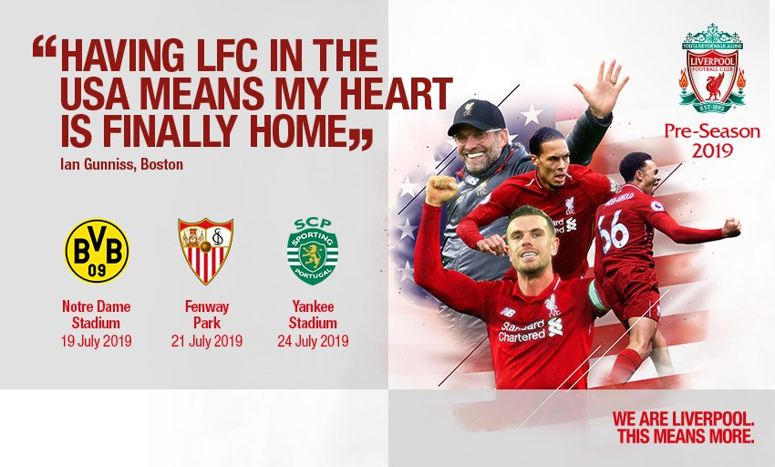 Three historic venues. Three historic teams. One historic tour.  Tickets for Fenway Park and Notre Dame Stadium will be on sale this Friday, April 26th at 10 AM EST. Tickets for Yankee Stadium will be on sale May 9th at 10 AM EST.   #LFCPreSeason<br>http://pic.twitter.com/mZRruFN27j