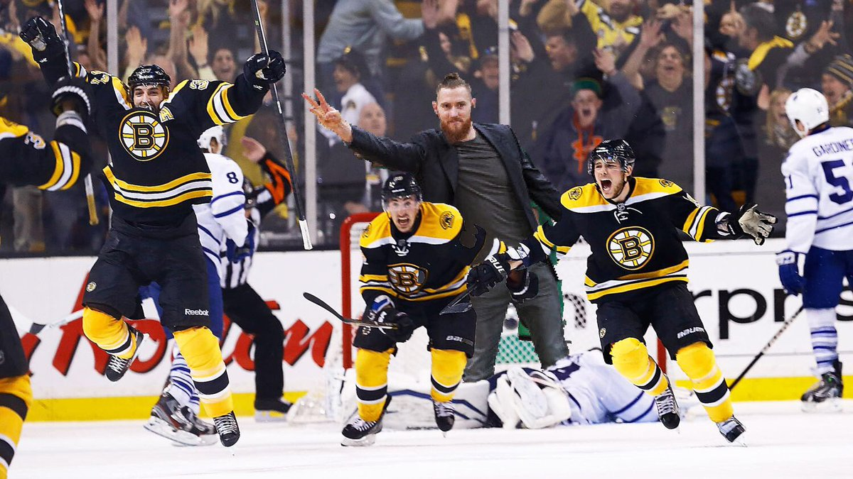 Bruins. Bergeron. Baynes. Because it's the Cup.