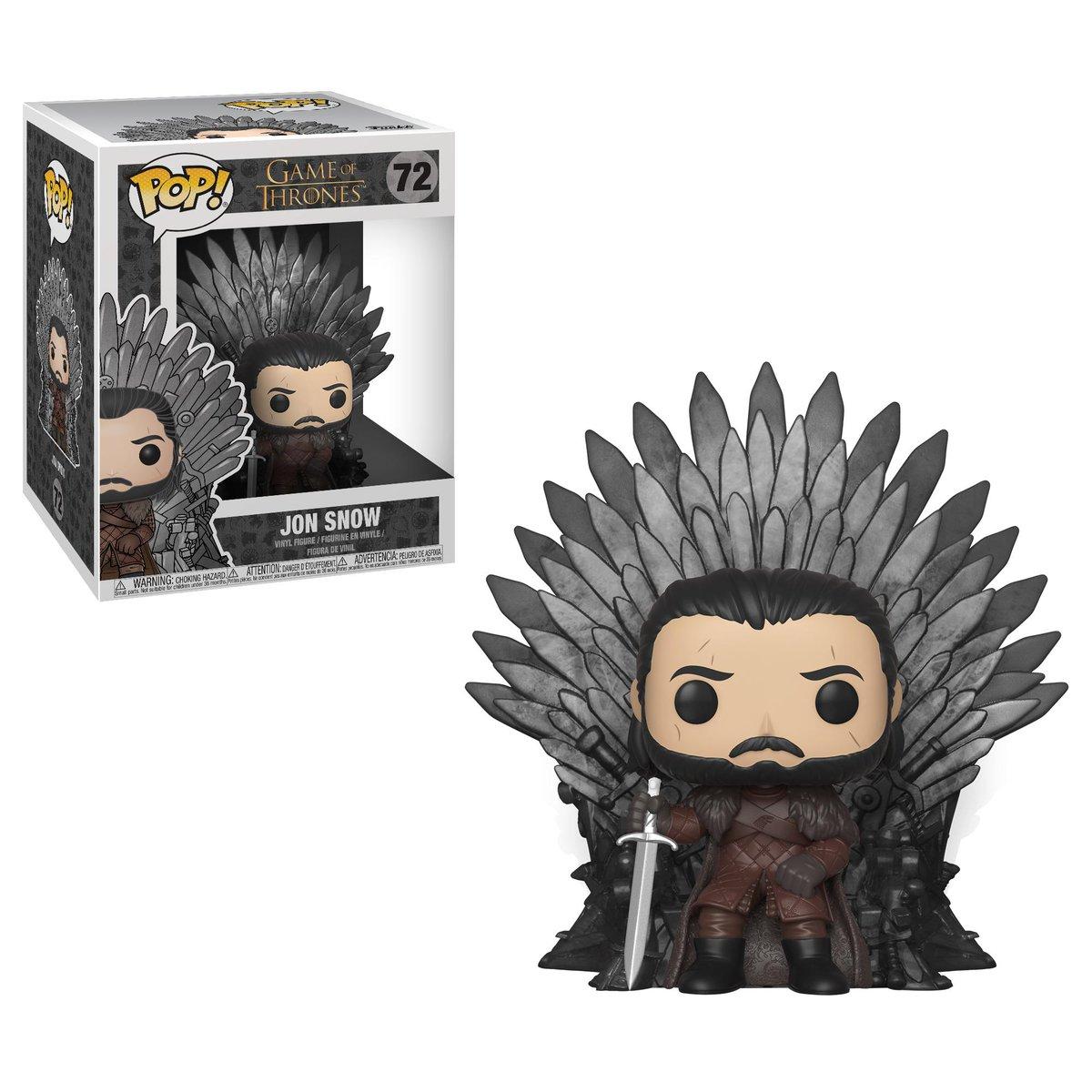 RT & follow @OriginalFunko for a chance to win a Jon Snow on Iron Throne Pop! #GameofThrones #ForTheThrone #GOT #JonSnow