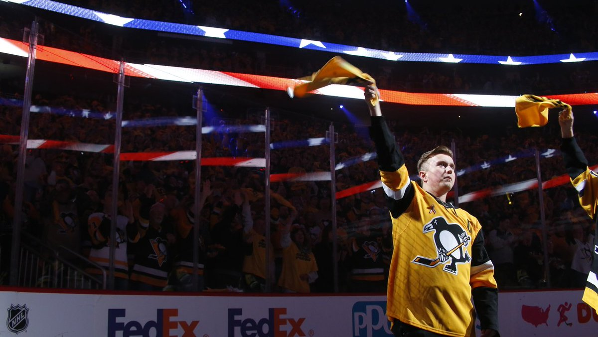Benjamin Hines was a Sergeant in the U.S. Marine Corps. He was supposed to return from Afghanistan. He was supposed to attend Game 4 with his brother. Instead, he made the ultimate sacrifice.  We honored his legacy and welcomed his brother before Game 4: http://pens.pe/2PpI7Kp