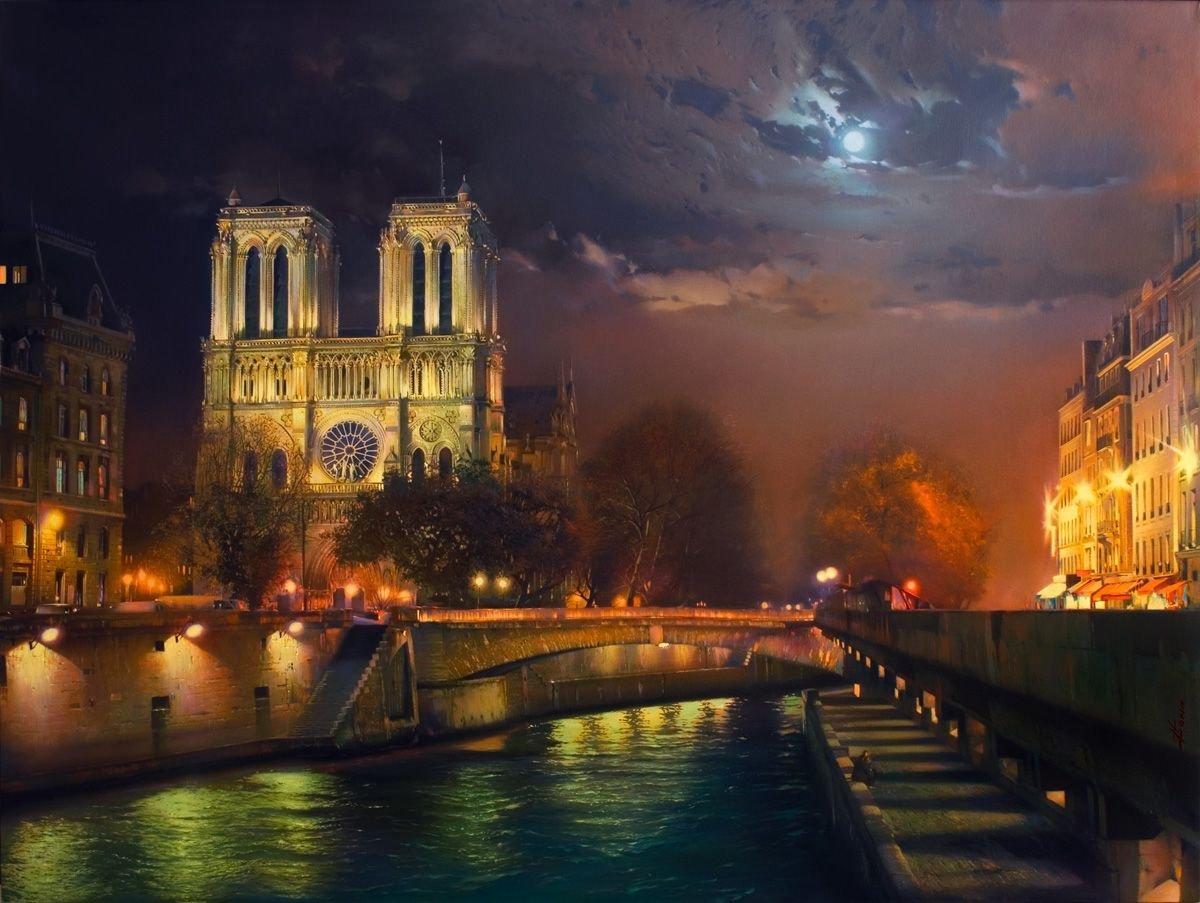 Good night, I wish you a nice night  @ParisAMDParis Notre-Dame at night. Pinterest <br>http://pic.twitter.com/Ub2dGcv6Yx