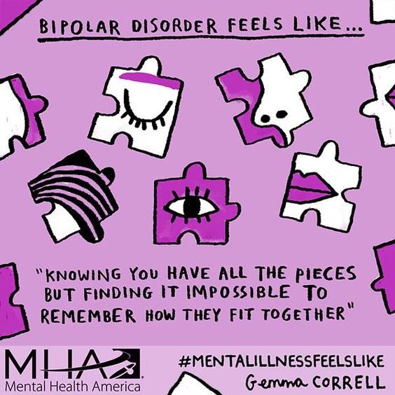 When dealing Bipolar Disorder there are shifts in an individual's mood, alternating between mania (elevated mood) and depression (deep sadness). If you, or someone you know is struggling with these symptoms seek help.  #mentalhealthawareness #mentalhealth #bipolardisorder