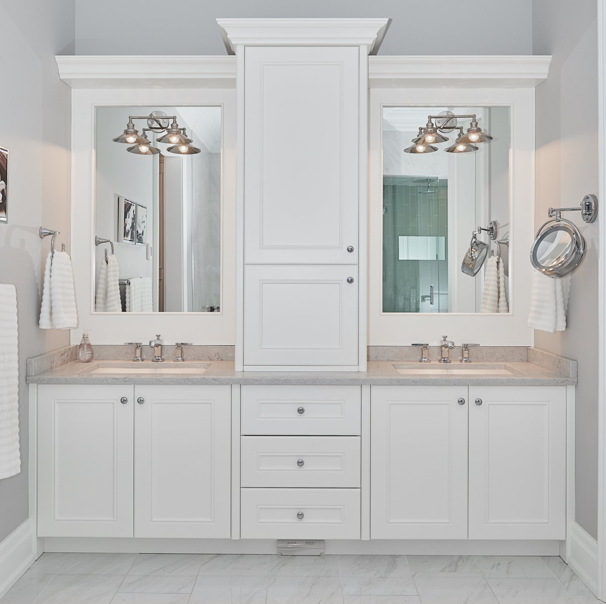 Scott Arthur Millwork Cabinetry Ltd On Twitter No Need To Take Turns In Getting Ready As This Bathroom Vanity Has Two Separate Mirrors Faucets And Lots Of Storage Space We Design