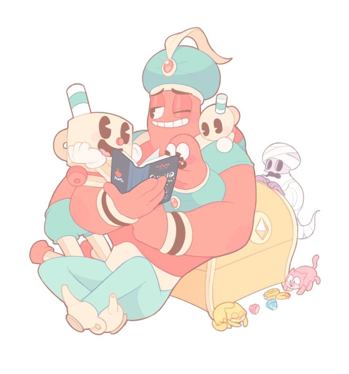 Genie Daddy #Cuphead<br>http://pic.twitter.com/oSJF9iVwBf