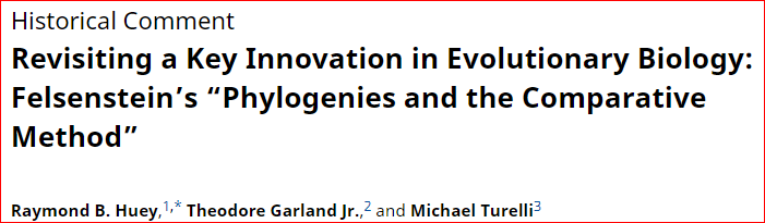 Ahead of Print: We review how Felsenstein's 1985 paper on phylogenies and the comparative method revolutionized evolutionary biology Ms: https://www.journals.uchicago.edu/doi/full/10.1086/703055…