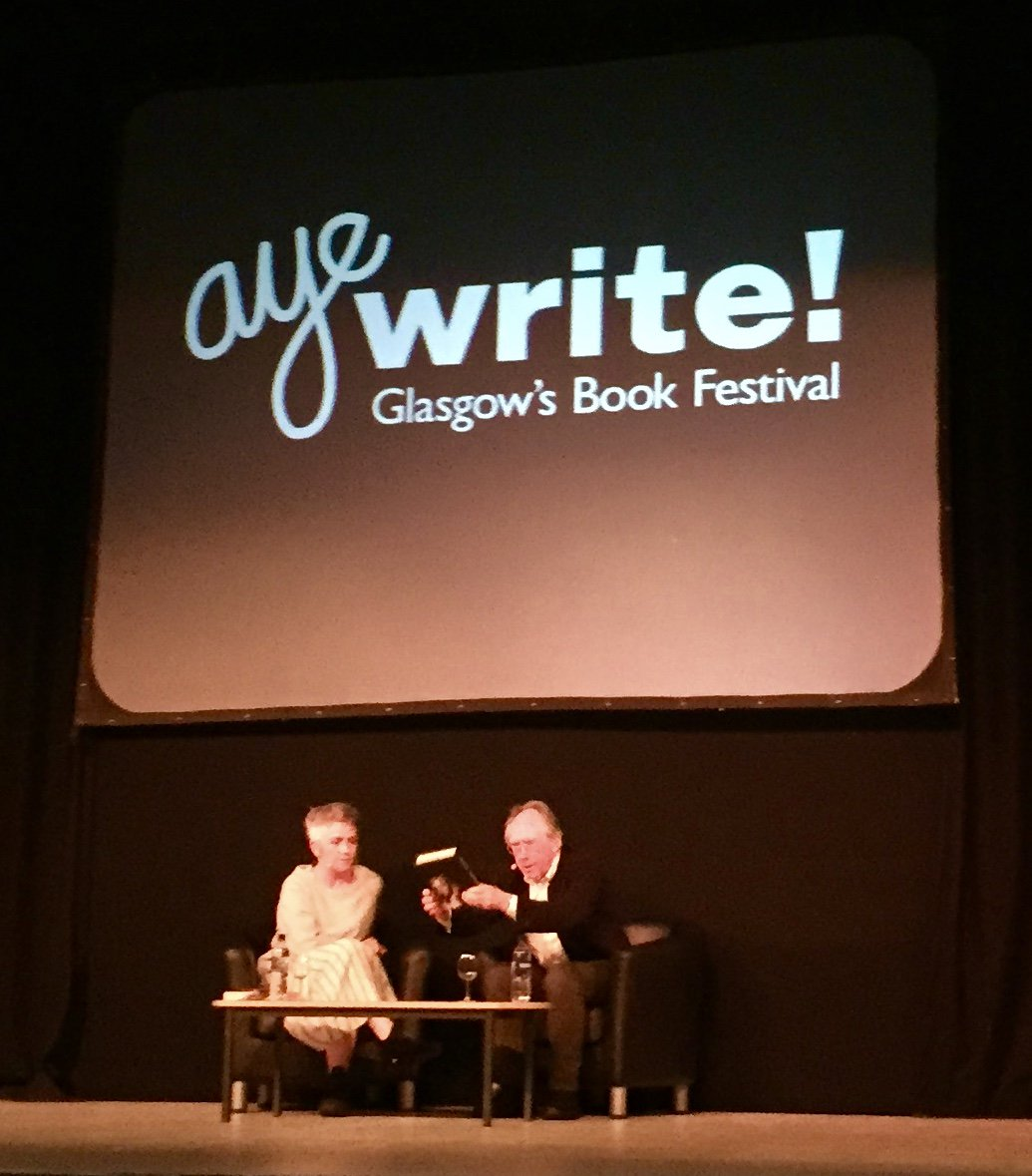 Enjoyable evening listening to @DameDeniseMina in discussion with Ian McEwan @AyeWrite<br>http://pic.twitter.com/30O6Ql5tWY