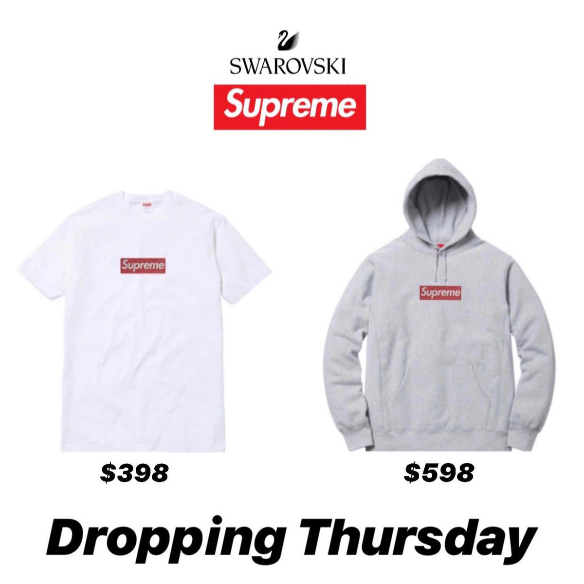 cc4a23416de Supreme Week 9 Droplist Celebrating the 25th Anniversary Supreme will be  releasing a celebratory Box Logo Tee and Hoody Releasing this Thursday  April 25th ...