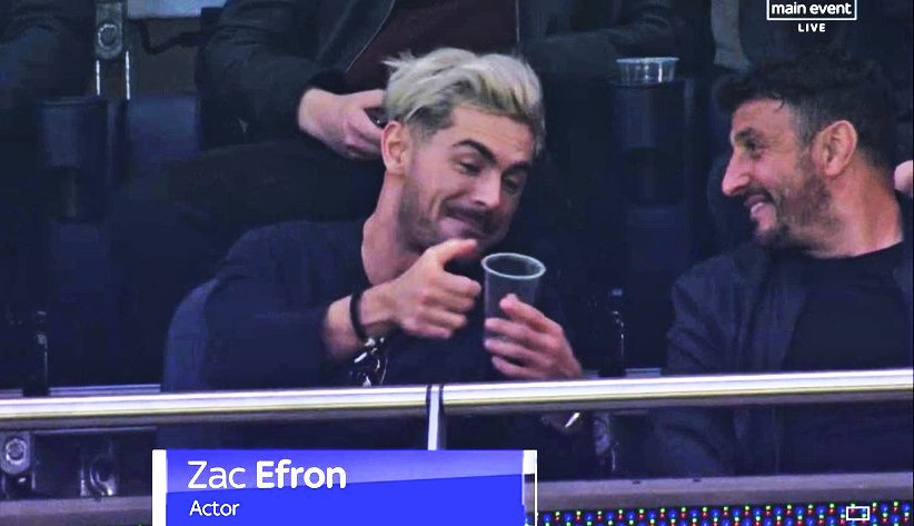 Zac Efron is 100% raving about how the beers at Spurs' new stadium fill up from the bottom. And rightly so