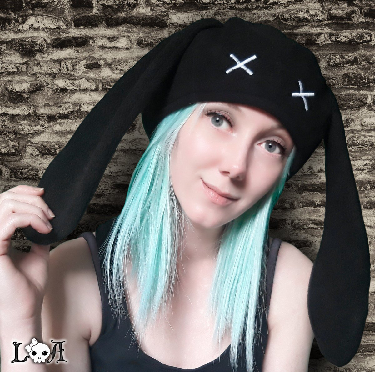 test Twitter Media - 🐰☠️Creepy Cute Kitty Hat in Black ☠️🐰 🔗 https://t.co/1BuSVCB6Mi #CreepyCute #PastelGoth #Alternative #Cute #Gothic #Bunny #Rabbit #Hats #Fashion #LolitasAdornments https://t.co/i4eeHaL46q