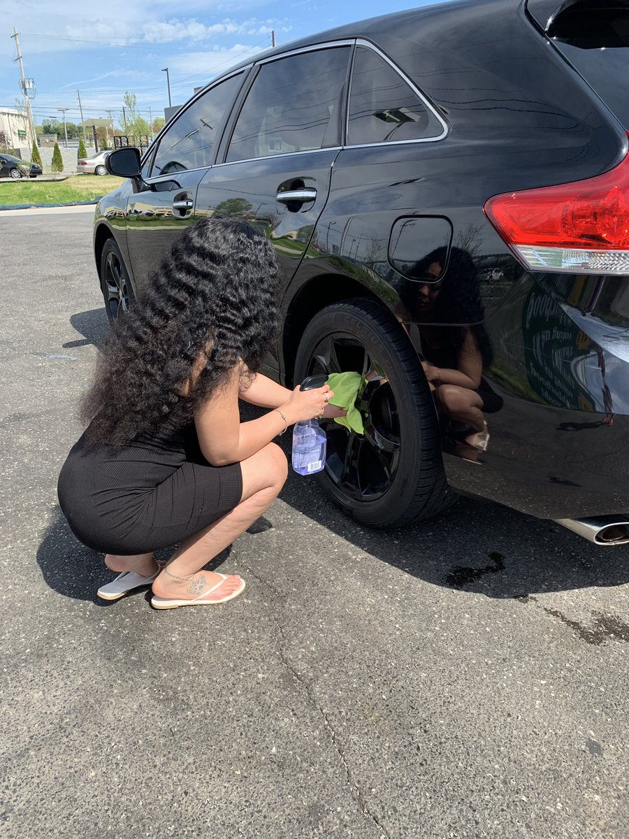 Think, asian lesbians washing car