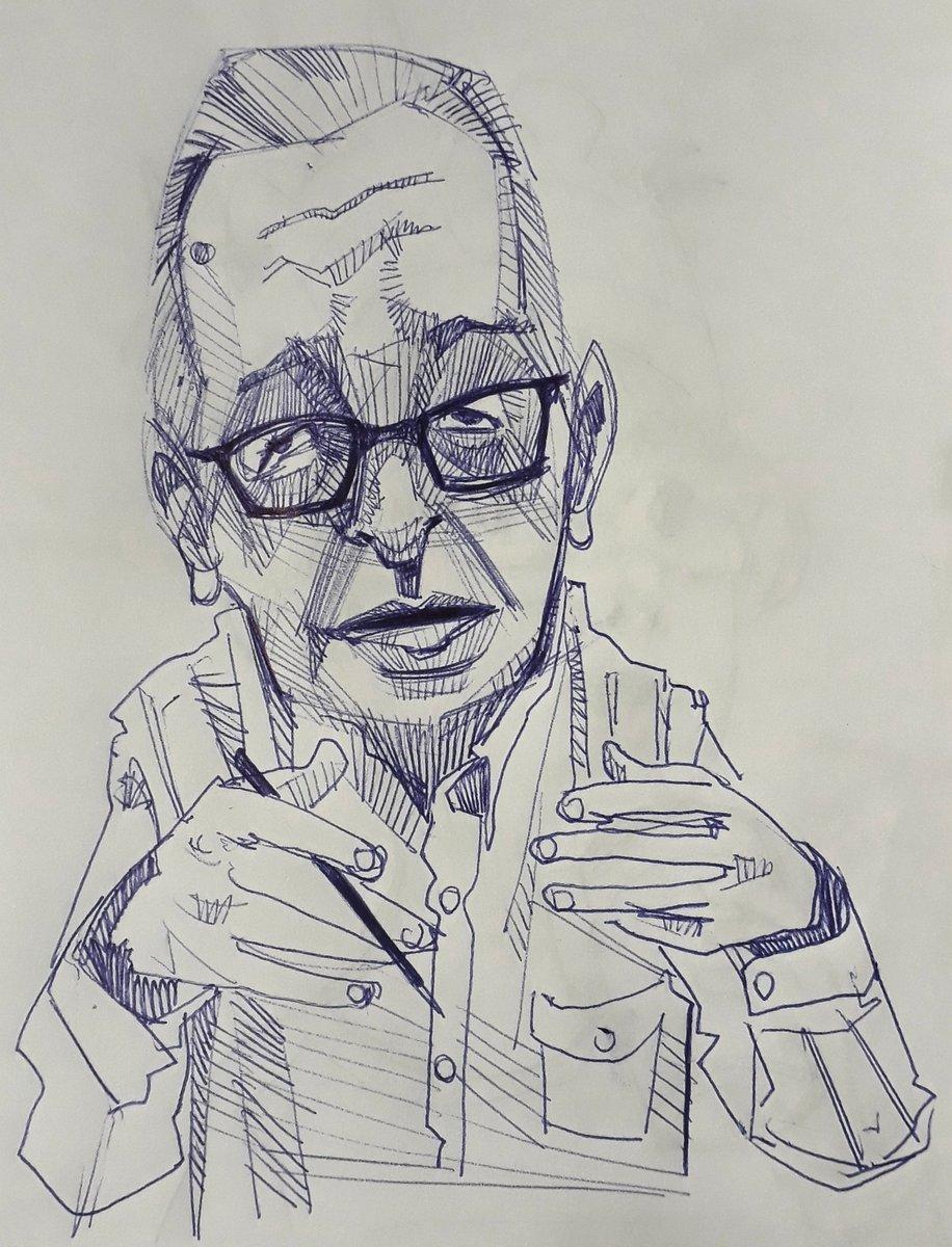 #olavodecarvalho #olavo #thiagoss7 #sketchbook #sketch #drawing #draw #dibujo #fineart #caricatura #rascunho #art #caricature #DireitaUnida #esquerdaunida #amodesenhar #amodesenho #desenho #DireitaSegueDireita @opropriolavo Mais uma caricaturazinha...pic.twitter.com/qM5PreaE4s