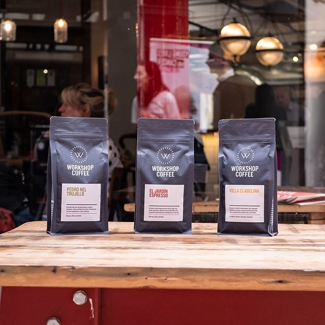 You can get your @workshopcoffee to take away in a lovely bag to enjoy at home 👏 Pick some up at Barton Arcade or Spinningfields!