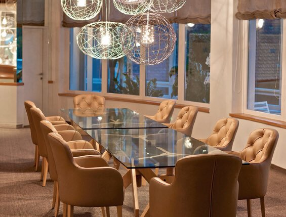 Love the lights and our Luma.  #hospitalitydesign #commercialfurniture #interiordesign