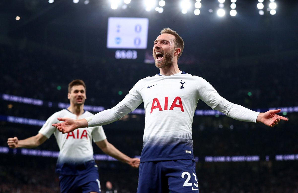 Christian Eriksen: Has scored more goals from outside of the box (5) than any other Premier League player this season For more player stats - whoscored.com/Players/69344/…