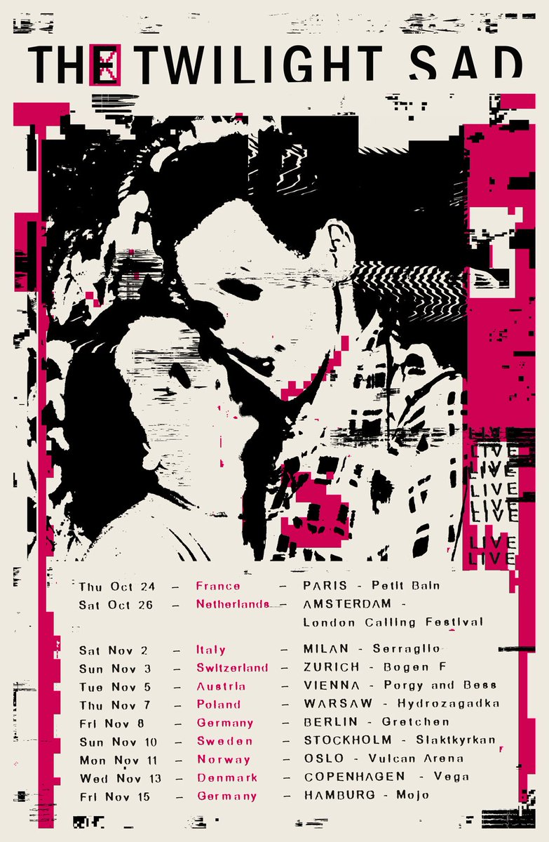 We can't wait to return to Europe later this year.   Exclusive pre-sale tomorrow (Thursday 25) at 9am BST / 10am CEST.   Sign up here to access - http://thetwilightsad.com/#signup  Tickets go on general sale at 9am BST / 10am CEST on Friday (26 April).