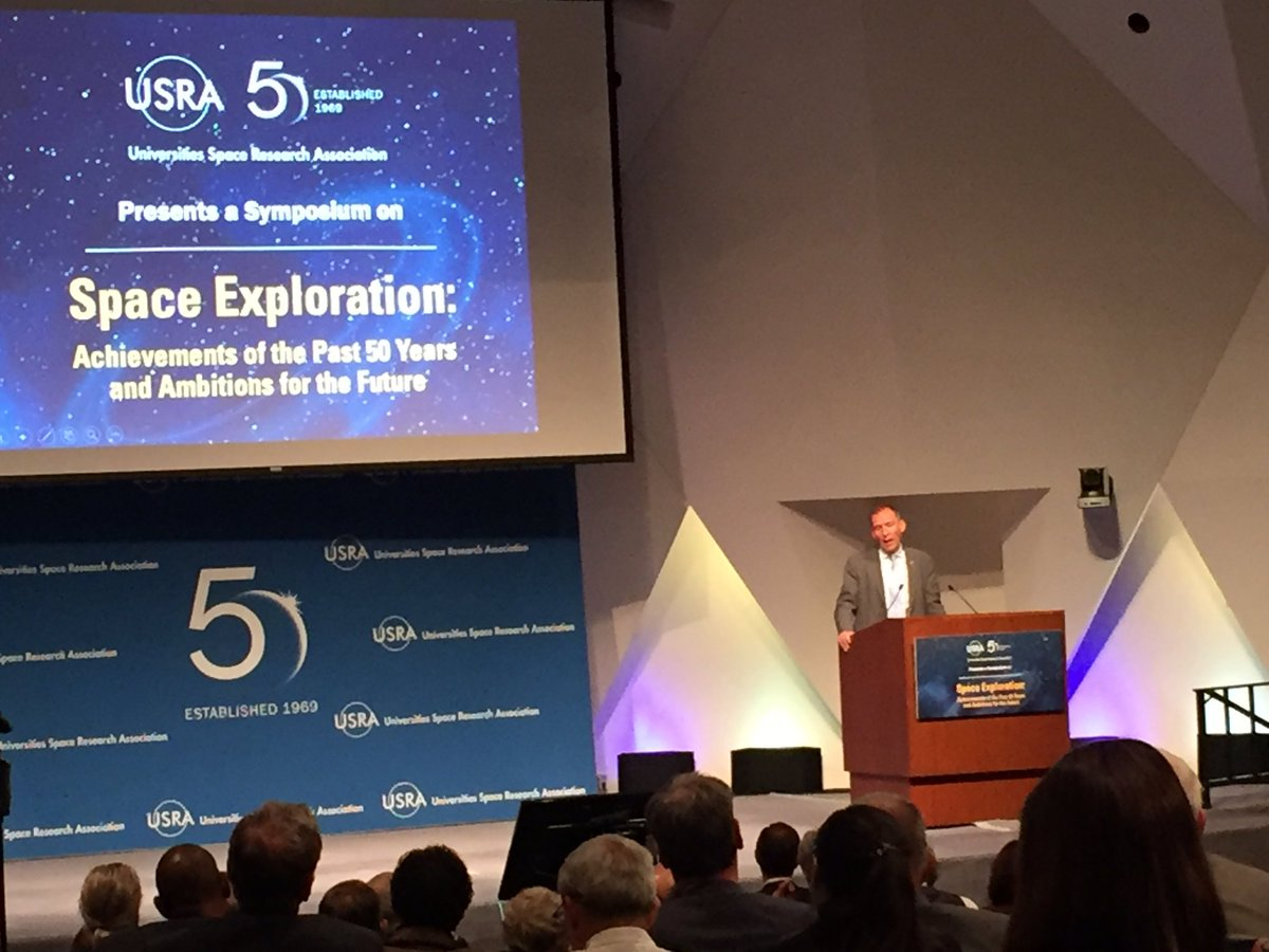 """Thomas Zurbuchen @Dr_ThomasZ Associate Administrator, @NASA Science Mission Directorate says: """"exploration unites — exploration brings the world together. It's worth dedicating your life to."""" Thanks, Dr. for joining us with your inspirational, impromptu words!"""