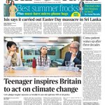 "Image for the Tweet beginning: Wednesday's Times: ""Teenager inspires Britain"