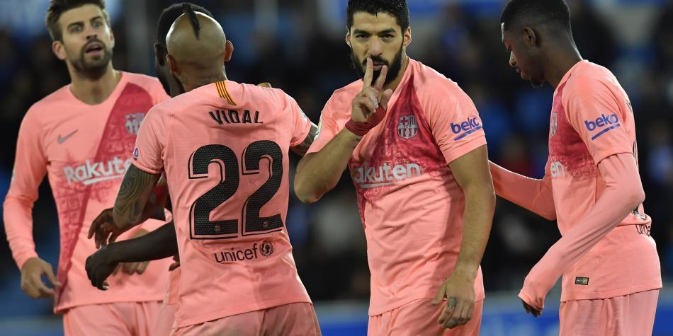 ⏱ TERMINÉ ! ALAVÉS 0-2 FC BARCELONE Il ne manque plus que 4 points (maximum) au Barça pour être officiellement champion.