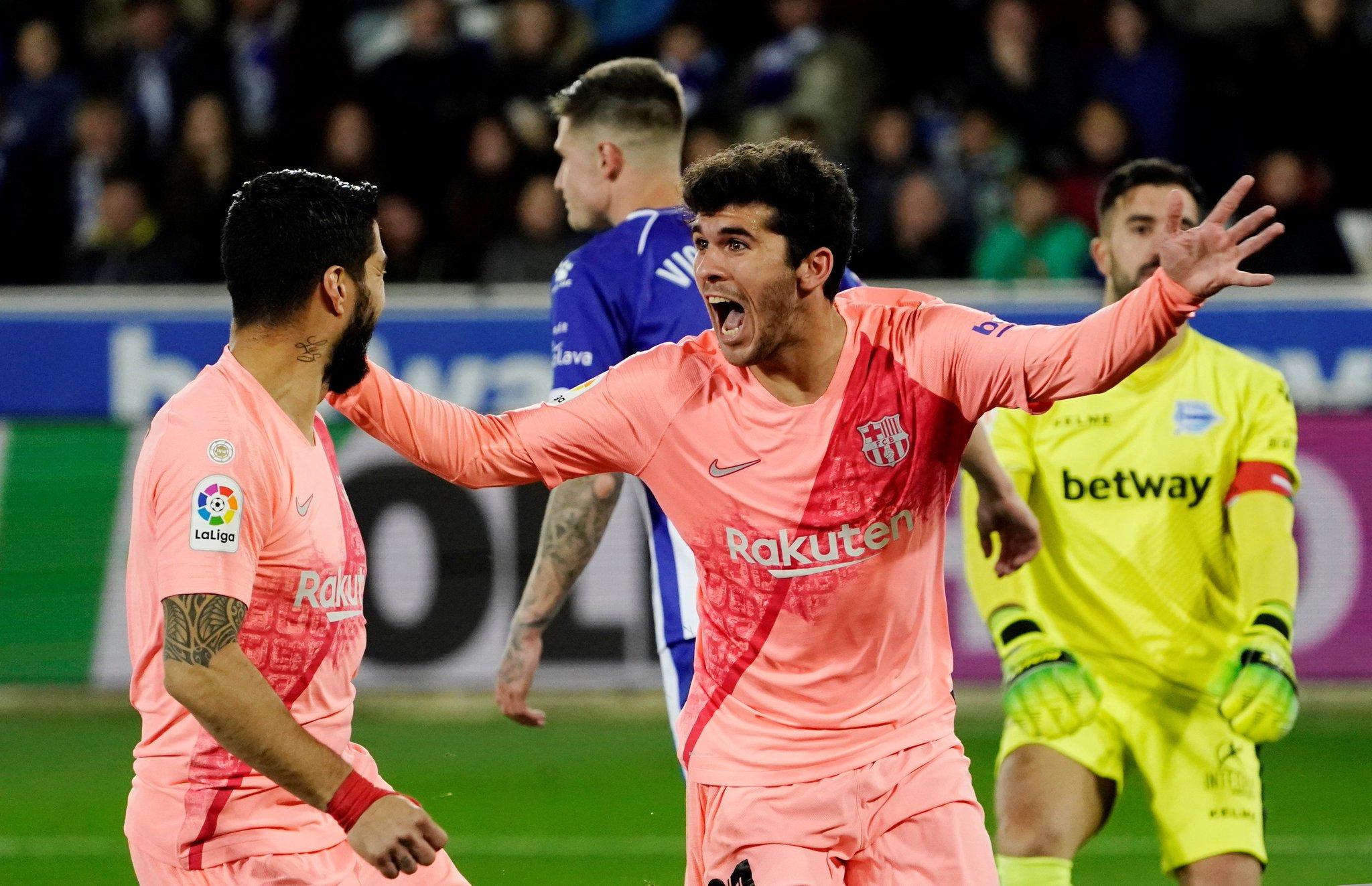 أهداف فوز برشلونة على حساب الافيس