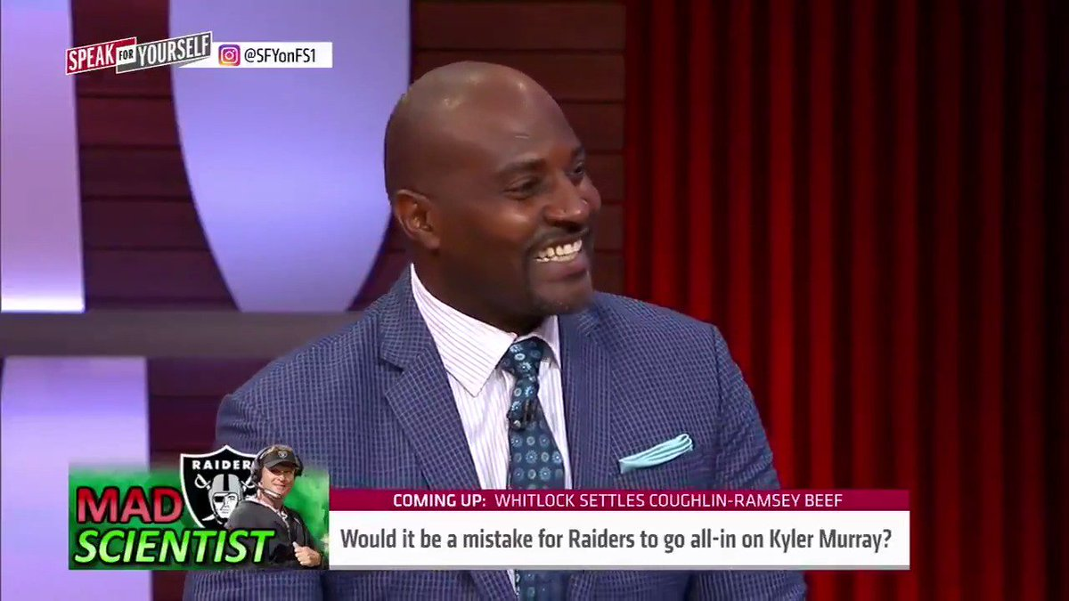 """""""The price tag of getting Kyler Murray is too excessive… Fix Derek Carr and that's going to be a story that gives you the validation of being the quarterback whisperer versus risking everything for Kyler Murray.""""  @MarcellusWiley has some advice for Jon Gruden"""