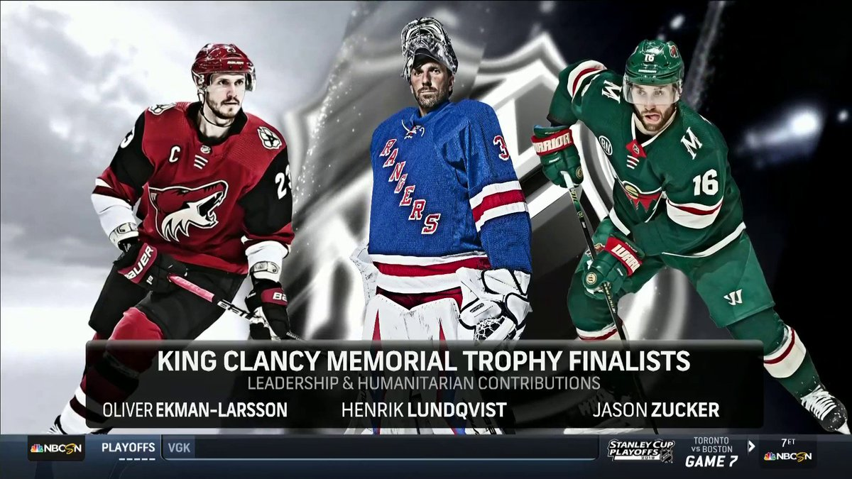 Nhl On Nbc On Twitter The 2018 19 King Clancy Memorial Trophy
