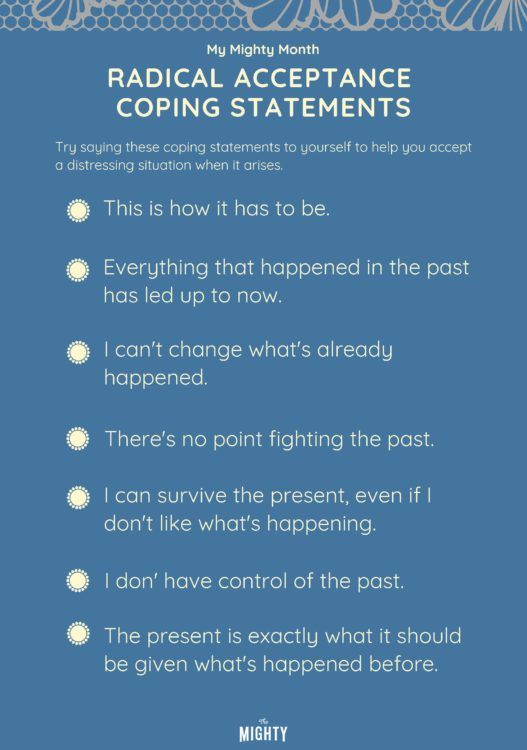 Try these radical acceptance statements to get rid of distressing thoughts!