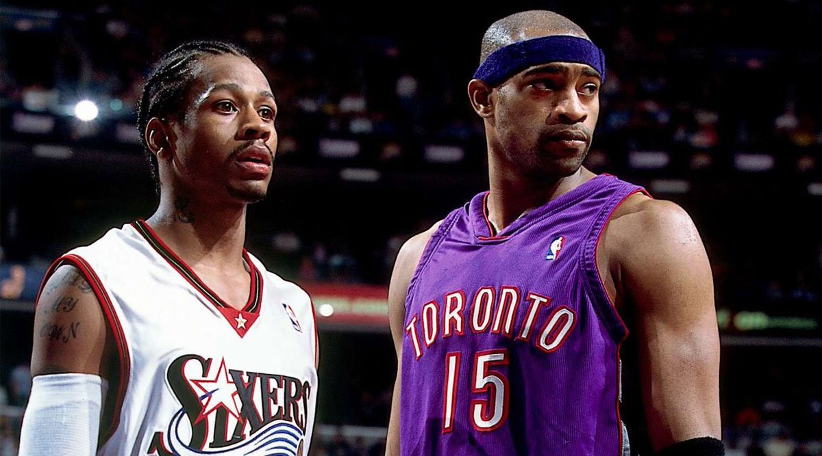 a162461bf37 Philadelphia and Toronto will meet in the playoffs for the first time since  2001, when Allen Iverson and the Sixers beat Vince Carter and the Raptors  in ...